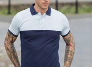 AWDis Colour Block Piqué Polo Shirt