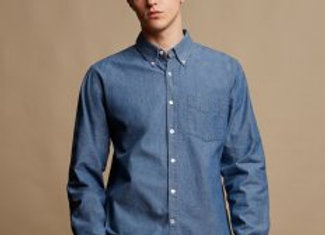 Front Row Classic Long Sleeve Chambray Shirt