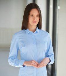 Brook Taverner Ladies Trevi Long Sleeve Poplin Shirt