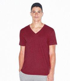 American Apparel Unisex Fine Jersey V Neck T-Shirt