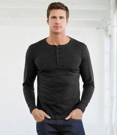 Canvas Long Sleeve Henley T-Shirt