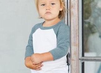 Canvas Toddler 3/4 Sleeve Baseball T-Shirt