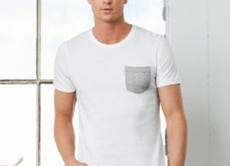 Canvas Contrast Pocket T-Shirt