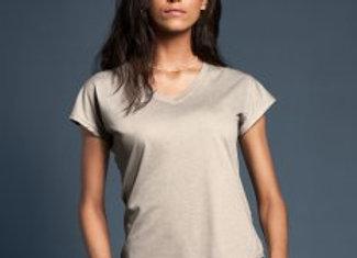 Anvil Ladies Tri-Blend V Neck T-Shirt