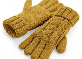 Beechfield Cable Knit Melange Gloves