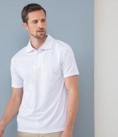 Henbury Cooltouch™ Textured Stripe Piqué Polo Shirt