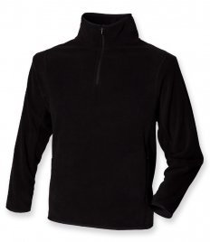 Henbury Zip Neck Inner Micro Fleece