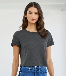 Bella Ladies Flowy Cropped T-Shirt