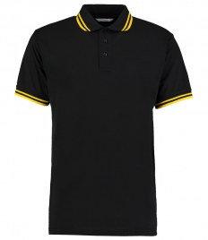 Kustom Kit Contrast Tipped Poly/Cotton Piqué Polo Shirt