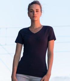 SF Ladies Feel Good Stretch V Neck T-Shirt