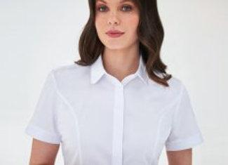Brook Taverner Ladies Soave Short Sleeve Poplin Shirt