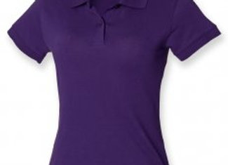 Henbury Ladies Stretch Cotton Piqué Polo Shirt
