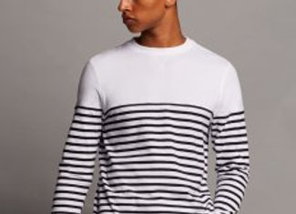 Front Row Long Sleeve Breton Striped T-Shirt