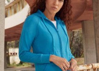 Fruit of the Loom Lady Fit Lightweight Zip Hooded Sweatshirt