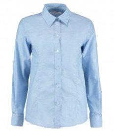 Kustom Kit Ladies Long Sleeve Tailored Workwear Oxford Shirt