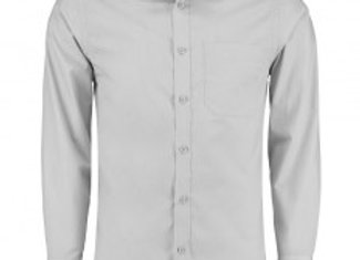 Kustom Kit Long Sleeve Tailored Poplin Shirt