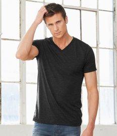Canvas Unisex Tri-Blend V Neck T-Shirt