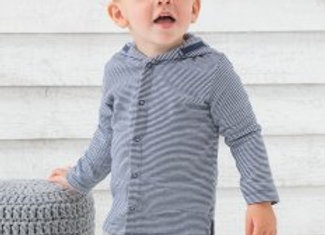 BabyBugz Baby Striped Hooded T-Shirt