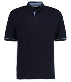Kustom Kit Button Down Collar Contrast Piqué Polo Shirt
