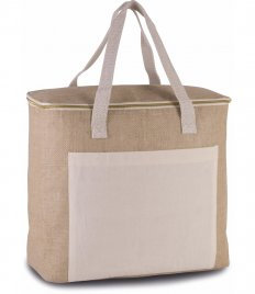 Kimood Large Jute Cool Bag