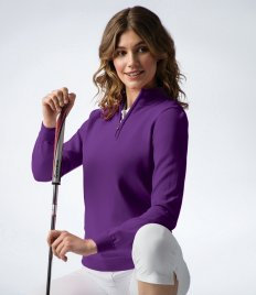 Glenmuir Ladies Zip Neck Sweater