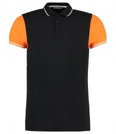 Kustom Kit Contrast Tipped Piqué Polo Shirt