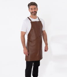Joseph Alan Leather Bib Apron