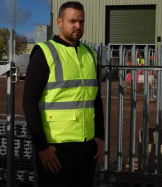 Warrior Phoenix Hi-Vis Reversible Bodywarmer
