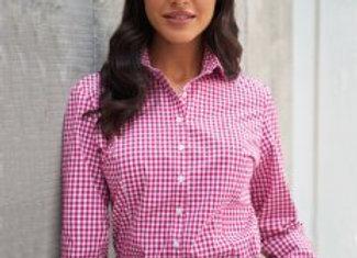 Brook Taverner Ladies Kansas Gingham Long Sleeve Shirt