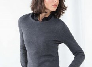 Henbury Ladies Crew Neck Sweater