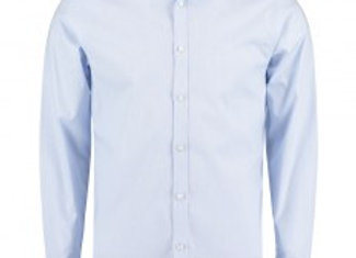 Clayton and Ford Microcheck Long Sleeve Tailored Poplin Shirt