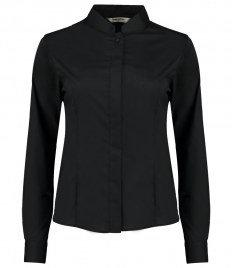 Bargear Ladies Long Sleeve Tailored Mandarin Collar Shirt