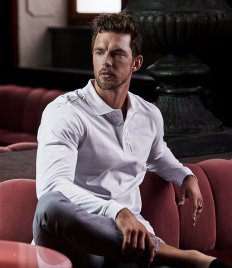 Tee Jays Luxury Stretch Long Sleeve Polo Shirt