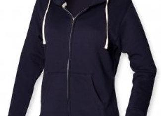 Front Row Ladies Zip Hooded Sweatshirt
