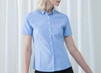 Henbury Ladies Modern Short Sleeve Regular Fit Oxford Shirt