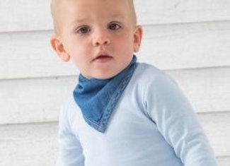 BabyBugz Baby Rocks Denim Bandana Bib