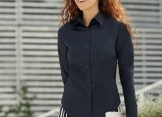 Fruit of the Loom Lady Fit Long Sleeve Poplin Shirt