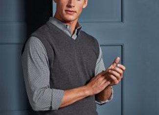 Premier Sleeveless Cotton Acrylic V Neck Sweater