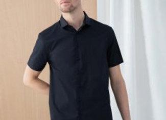 Henbury Short Sleeve Stretch Poplin Shirt