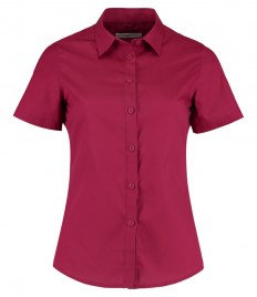 Kustom Kit Ladies Short Sleeve Tailored Poplin Shirt