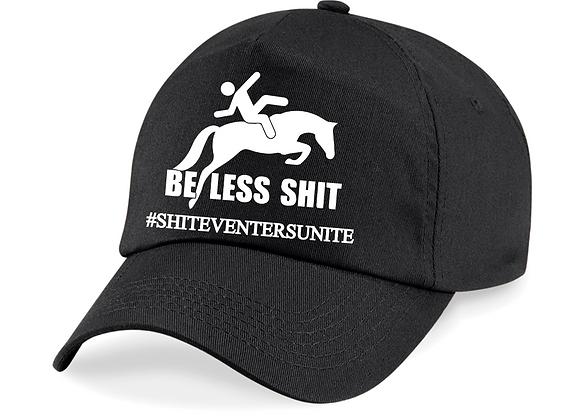 BeLessShit BLACK Baseball Cap