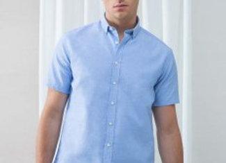 Henbury Modern Short Sleeve Regular Fit Oxford Shirt