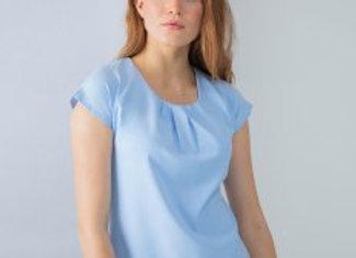 Henbury Ladies Pleat Front Short Sleeve Blouse