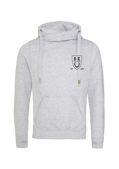 SEU cross over neck hoodie