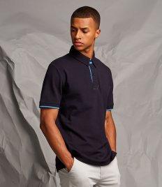 Front Row Contrast Cotton Piqué Polo Shirt