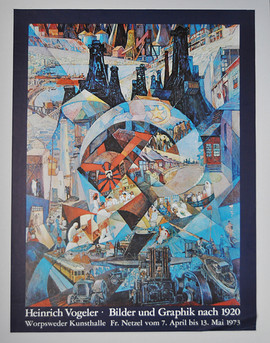 Heinrich Vogeler Plakat 1973