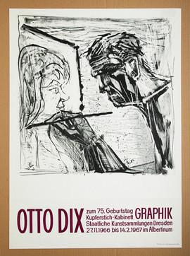 Otto Dix Lithografie Selbstbildnis 1966