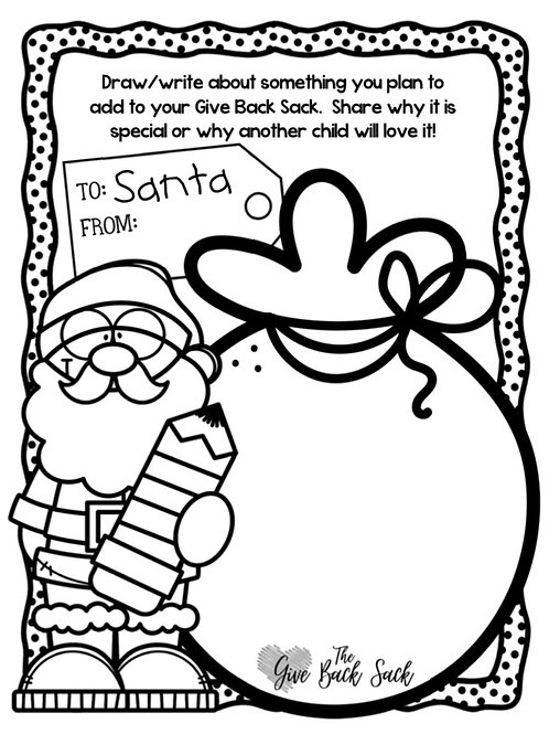 Give Back Worksheet