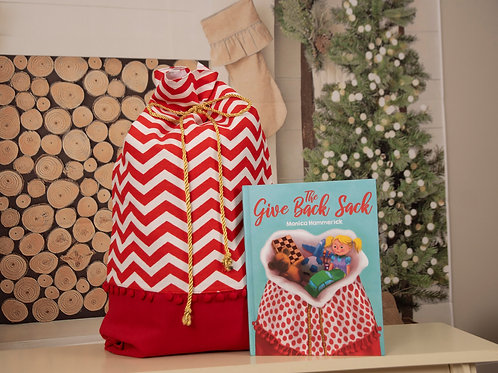 The Give Back Sack Storybook & Chevron Sack Set