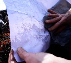 Carbon print of Myvatn lava field